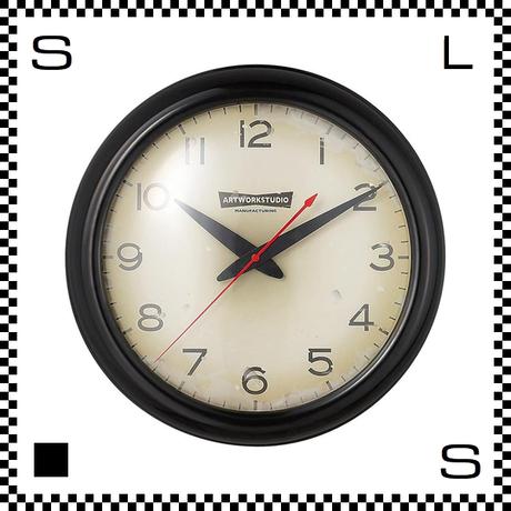 アートワークスタジオ Franklin フランクリンクロック ブラック/ビンテージ  直径35cm ウォールクロック 掛け時計 オールドアメリカン風 TK-2071-BKVI