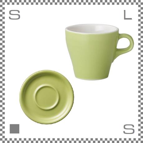 ORIGAMI オリガミ カプチーノカップ&ソーサー グリーン 6oz 180cc コーヒーカップ&ソーサー バリスタが設計 日本製