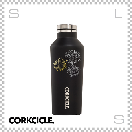 CORKCICLE コークシクル ハナビ キャンティーン ブラック 9oz 2009MB-HANABI ステンレス製 マグボトル 携帯ボトル