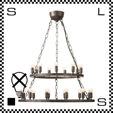 アートワークスタジオ Elements21 電球なし アンティークシャンデリア 2段 21灯 Φ685/230mm 上向きシャンデリア クラシック レトロ AW-0382Z