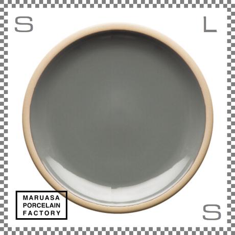 丸朝製陶所 %PORCELAINS ポーセリンズ プレート Lサイズ グロスグレー Φ244/H26mm 日本製