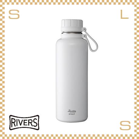 RIVERS リバーズ バキュームフラスク スタウト 1000 ホワイト W113/D88/H270mm 1000ml 約490g 魔法瓶 ストラップ付 中栓付 ステンレス製