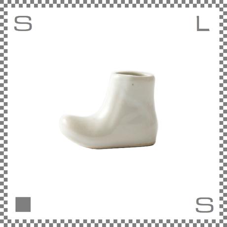 aiyu アイユー 一輪はしおき ブーツ ホワイト W4.3/H3.3cm 箸置き チョップスティックレスト 波佐見焼 日本製
