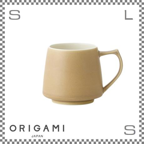 ORIGAMI オリガミ アロママグ マットベージュ Φ90/W115/H82mm 320cc コーヒーカップ バリスタが設計 日本製