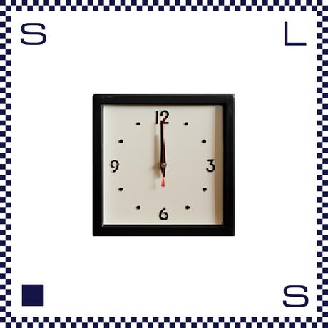HERMOSA ハモサ スクエアスチールクロック ブラック ウォールクロック 掛け時計