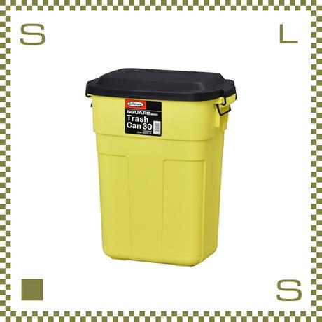 トラッシュカン イエロー W39/D27/H48.6cm 蓋開閉型 ゴミ箱 大型ゴミ箱 日本製 azu-l941y