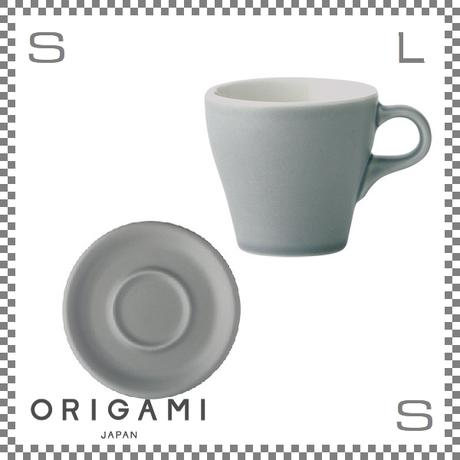 ORIGAMI オリガミ カプチーノカップ&ソーサー マットグレー 6oz 180cc コーヒーカップ&ソーサー バリスタが設計 日本製