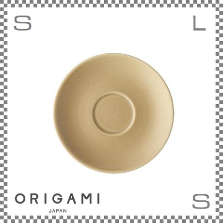 ORIGAMI オリガミ アロマカップ兼用ソーサー マットベージュ Φ152/H20mm コーヒーカップ用ソーサー 日本製