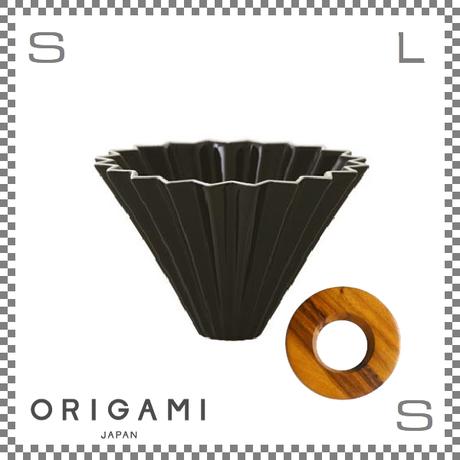 ORIGAMI オリガミ ドリッパーセット ドリッパー Mサイズ ブラック 2~4杯用 &専用ドリッパーホルダー