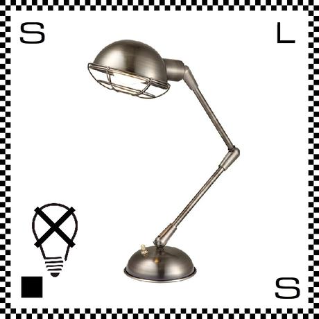 アートワークスタジオ Bronx ブロンクスデスクランプ クローム 電球なし アーム:450mm レトロアメリカンスタイル 2段アーム 鋳物 AW-0348Z-CH
