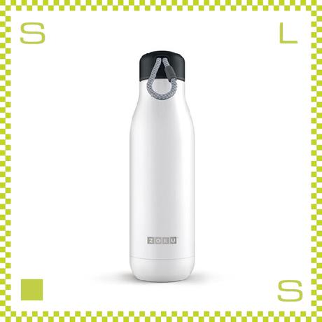 ZOKU ゾク ステンレスボトル 750ml ホワイト ダブルウォール ストラップ付 魔法瓶 水筒 携帯ボトル