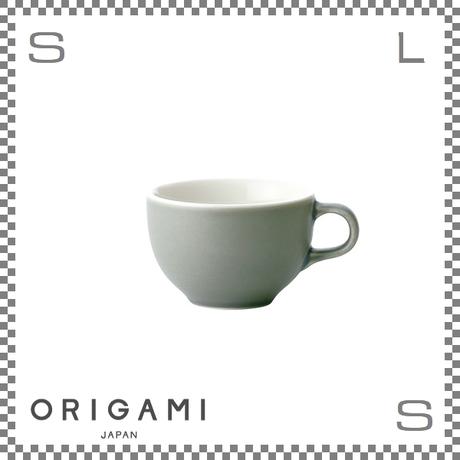 ORIGAMI オリガミ ラテボウル マットグレー 6oz Φ90/W113/H60mm 180cc コーヒーカップ バリスタが設計 日本製