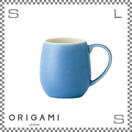 ORIGAMI オリガミ バレルアロママグ マットブルー Φ85/W110/H90mm 320cc コーヒーカップ バリスタが設計 日本製