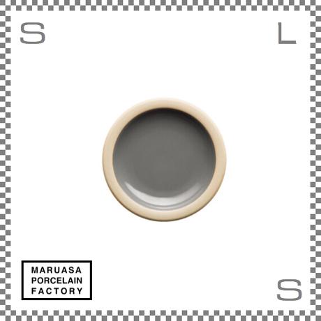 丸朝製陶所 %PORCELAINS ポーセリンズ プレート SSサイズ グロスグレー Φ131/H20mm 日本製