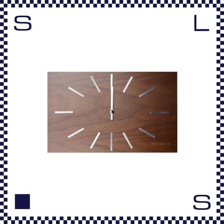 HERMOSA ハモサ LABREA CLOCK ラブレアクロック ウォルナット 壁掛け時計 置き時計 ビーチテイスト beach