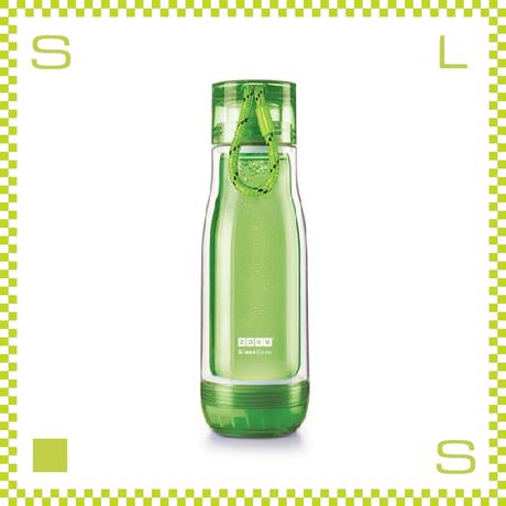 ZOKU ゾク コアボトル 475ml グリーン ダブルウォール ストラップ付 内側:耐熱ガラス 水筒 携帯ボトル