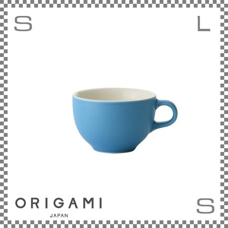 ORIGAMI オリガミ ラテボウル マットブルー 6oz Φ90/W113/H60mm 180cc コーヒーカップ バリスタが設計 日本製