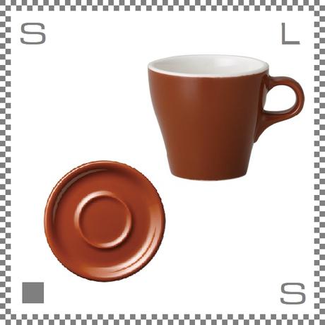 ORIGAMI オリガミ カプチーノカップ&ソーサー ブラウン 6oz 180cc コーヒーカップ&ソーサー バリスタが設計 日本製