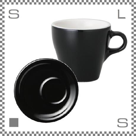 ORIGAMI オリガミ ラテカップ&トレーソーサー ブラック 8oz 250cc コーヒーカップ&トレーソーサー バリスタが設計 日本製