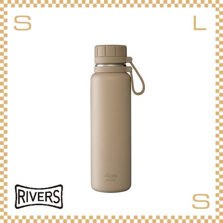 RIVERS リバーズ バキュームフラスク スタウト 700 ベージュ W100/D74/H265mm 700ml 約383g 魔法瓶 ストラップ付 中栓付 ステンレス製