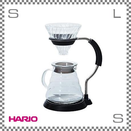 HARIO ハリオ V60 アームスタンドガラスドリッパーセット 1~4杯用 W190/D155/H250mm 計量スプーン付き ステンレス製 日本製 vas-8006-g