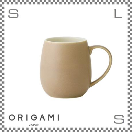 ORIGAMI オリガミ バレルアロママグ マットベージュ Φ85/W110/H90mm 320cc コーヒーカップ バリスタが設計 日本製