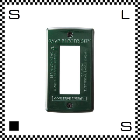 アートワークスタジオ スイッチプレート スチール 3口用 グリーン 立体加工 コンセントプレート デザインコンセントプレート TK-2083-GN