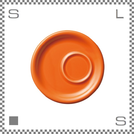 ORIGAMI オリガミ トレーソーサー オレンジ Φ160mm カプチーノカップ/ラテカップ兼用 6oz/8oz兼用 日本製