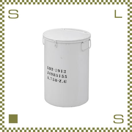トラッシュカン ブリキ風 ホワイト W31.5/D31.5/H44.5cm 蓋・ハンドル付き ごみ箱 ゴミ箱 azu-lfs442wh