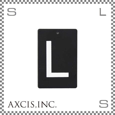 """AXCIS アクシス アイアンプレート """"L"""" W40/D2/H60mm アルファベットプレート スチール製 アイアンネームプレートホルダー用 hs2569"""