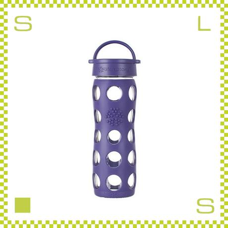 LIFEFACTORY ライフファクトリー グラスボトル クラシックキャップ 475 ロイヤルパープル 475ml 携帯ボトル ガラスボトル