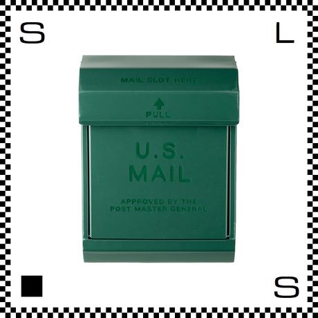 アートワークスタジオ U.Sメールボックス ダイヤル式 グリーン W283/D190/H380mm 壁付ポスト 鍵付き 郵便ポスト  TK-2078-GN