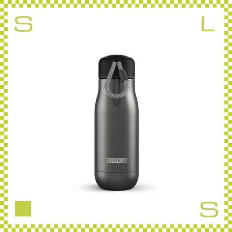 ZOKU ゾク ステンレスボトル 350ml ガンメタル ダブルウォール ストラップ付 魔法瓶 水筒 携帯ボトル