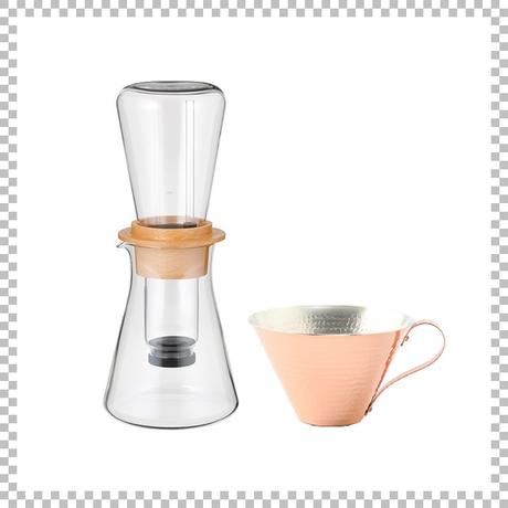 SNOWTOP COFFEE series スノウトップ ウォータードリップコーヒーサーバー & R&W 銅製アイスコーヒーカップ(マット/槌目)
