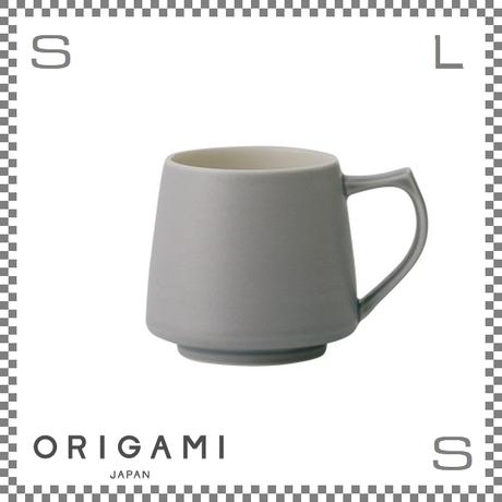 ORIGAMI オリガミ アロママグ マットグレー Φ90/W115/H82mm 320cc コーヒーカップ バリスタが設計 日本製