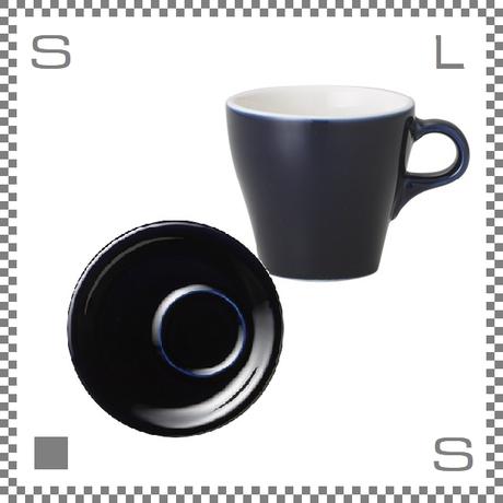 ORIGAMI オリガミ カプチーノカップ&トレーソーサー ネイビー 6oz 180cc コーヒーカップ&トレーソーサー バリスタが設計 日本製