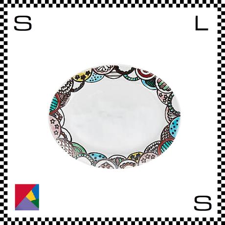 九谷焼 双鳩窯 オーバルプレート 四季山々 W25/D14/H6cm 楕円皿 ハンドメイド 日本製