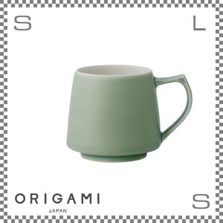ORIGAMI オリガミ アロママグ マットグリーン Φ90/W115/H82mm 320cc コーヒーカップ バリスタが設計 日本製