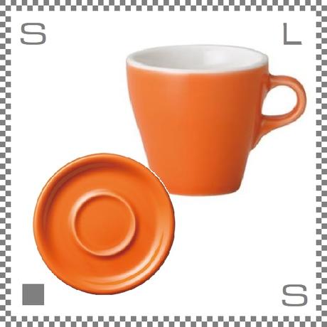 ORIGAMI オリガミ ラテカップ&ソーサー オレンジ 8oz 250cc コーヒーカップ&ソーサー バリスタが設計 日本製