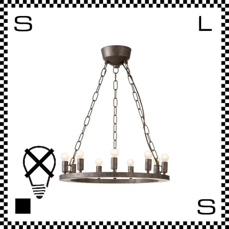 アートワークスタジオ Elements9 電球なし アンティークシャンデリア 9灯 Φ490/H25mm 上向きシャンデリア クラシック レトロ AW-0380Z