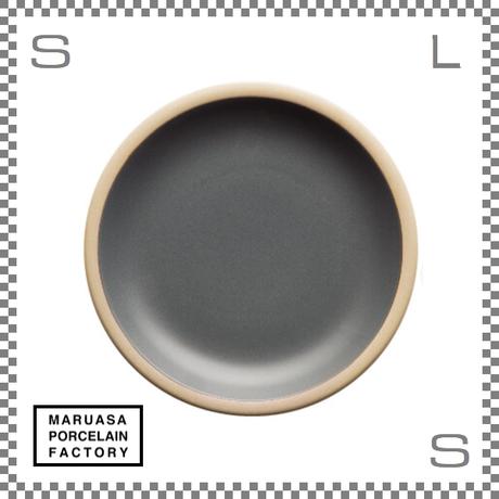 丸朝製陶所 %PORCELAINS ポーセリンズ プレート Mサイズ マットグレー Φ201/H26mm 日本製