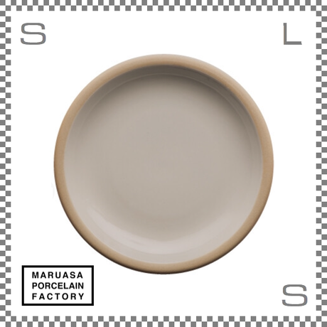丸朝製陶所 %PORCELAINS ポーセリンズ プレート Mサイズ グロスホワイト Φ201/H26mm 日本製