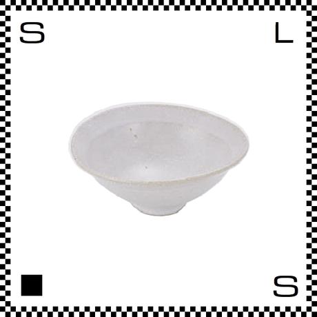 笠間焼 鈴木まるみ 楕円鉢 Sサイズ 糠白 Φ12.5/H4.8cm(高台径:3.5cm) ハンドメイド オーバルボウル 日本製