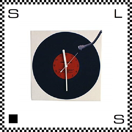 New Rrecord W30/D2/H30cm レコード盤モチーフ ウォールクロック 壁掛け時計 日本製