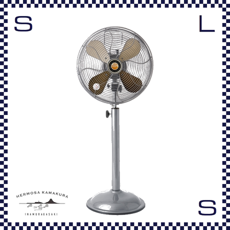 HERMOSA ハモサ レトロファンフロア 2019 シルバー W335/D250/H810~1100mm 扇風機 高さ調節可能 RETRO FAN FLOOR rf-0219-sv