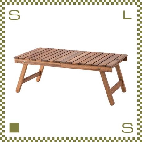 フォールディングテーブル W73/D40/H28cm 収納バッグ付き 折り畳み ローテーブル azu-nx514