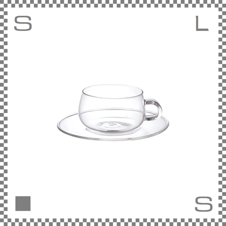 キントー UNITEA カップ&ソーサー 230ml 耐熱ガラス製