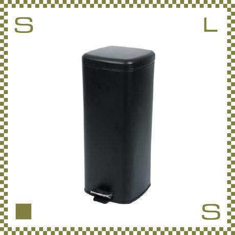 ダストボックス 30L スクエア ブラック W28/D36/H66cm ペダル式 アメリカンデザイン azu-lfs072bk