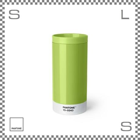 PANTONE パントン テイクアウトタンブラー グリーン 430ml Φ75/H164mm ステンレスボトル 魔法瓶