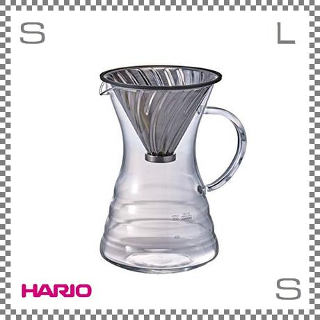 HARIO ハリオ V60 Pour Over Decanter 700ml W160/D125/H200mm 計量スプーン付き 耐熱ガラス製 vpd-02hsv